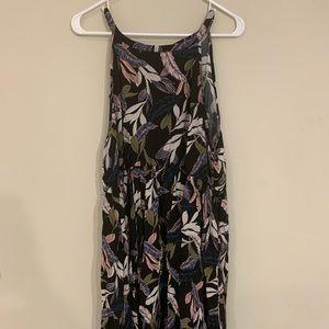 Torrid BLACK PALM LEAF HIGH NECK DRESS Size 3